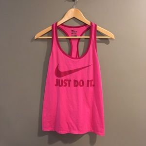 Nike Just Do It Pink & Burgundy Tank Top Size L
